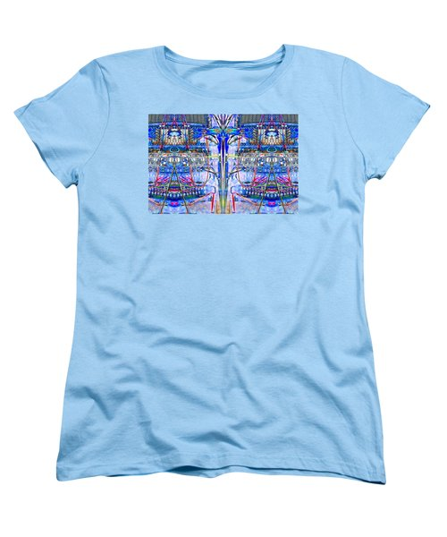 Matrix Blues Women's T-Shirt (Standard Cut) by Marianne Dow