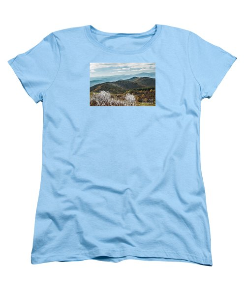 Women's T-Shirt (Standard Cut) featuring the photograph Max Patch In Appalachian Mountains by Debbie Green