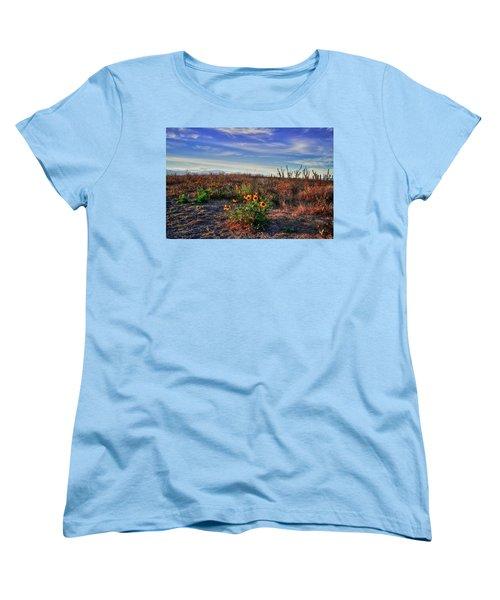 Women's T-Shirt (Standard Cut) featuring the photograph Meadow Of Wild Flowers by Eti Reid