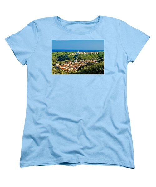 Mediterranean Town Of Susak Croatia Women's T-Shirt (Standard Cut) by Brch Photography