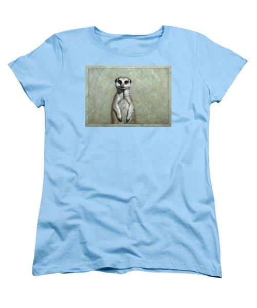 Meerkat Women's T-Shirt (Standard Cut) by James W Johnson