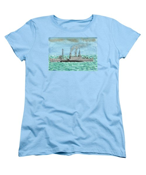 Women's T-Shirt (Standard Cut) featuring the painting Meeting For Supplies  by John Williams