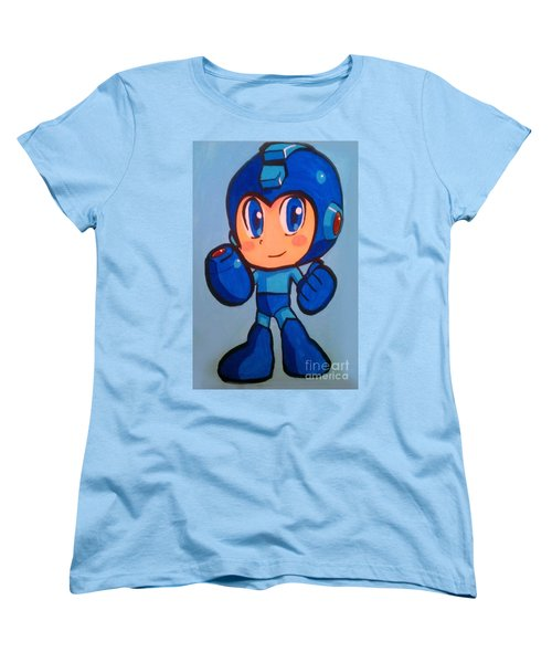 Women's T-Shirt (Standard Cut) featuring the painting Mega Man by Marisela Mungia