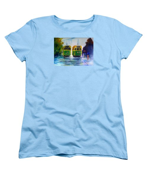 Melbourne Trams Women's T-Shirt (Standard Cut) by Therese Alcorn