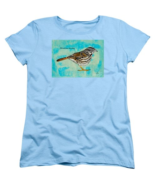 Melospiza Melodia Women's T-Shirt (Standard Cut) by Stefanie Forck