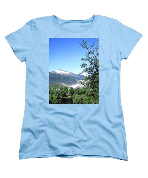 Women's T-Shirt (Standard Cut) featuring the photograph Mendenhall Glacier by Jennifer Wheatley Wolf