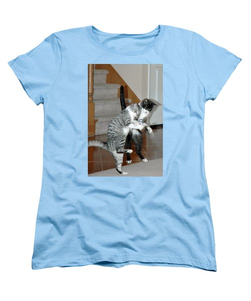 Meow Vows Women's T-Shirt (Standard Cut) by LeeAnn McLaneGoetz McLaneGoetzStudioLLCcom