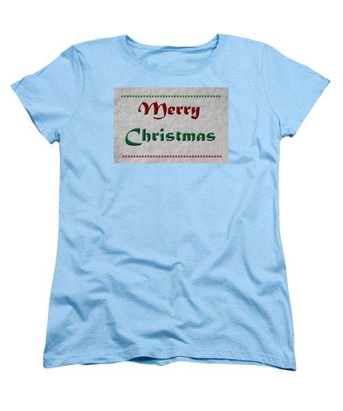 Merry Christmas Women's T-Shirt (Standard Cut) by Aimee L Maher Photography and Art Visit ALMGallerydotcom