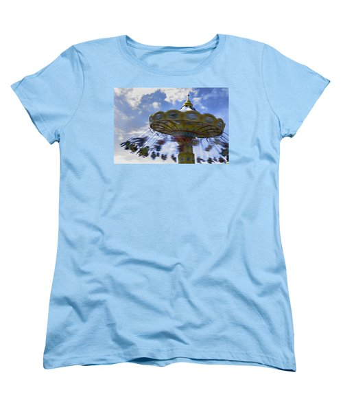Merry Go Round Swings Women's T-Shirt (Standard Cut) by Ralph Vazquez