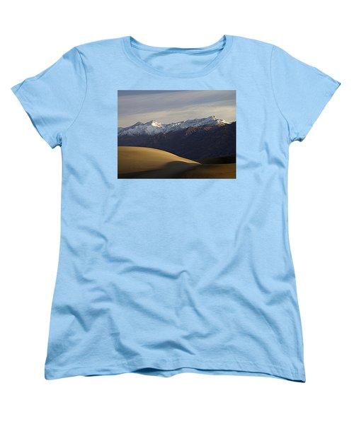 Women's T-Shirt (Standard Cut) featuring the photograph Mesquite Dunes And Grapevine Range by Joe Schofield