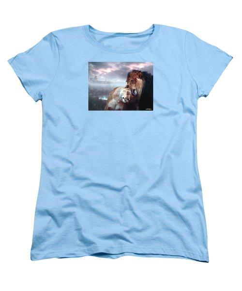 Yeshua Loves Israel Women's T-Shirt (Standard Cut) by Bill Stephens