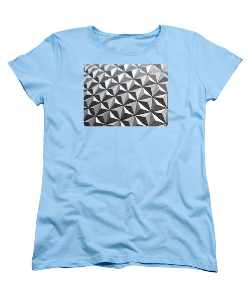 Women's T-Shirt (Standard Cut) featuring the photograph Metal Geode by Chris Thomas