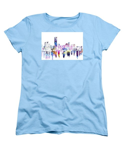 Miami Skyline Women's T-Shirt (Standard Cut) by Doc Braham