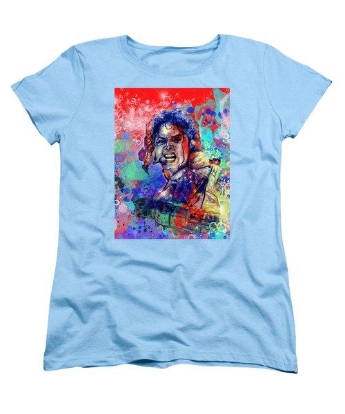 Michael Jackson 8 Women's T-Shirt (Standard Cut) by Bekim Art
