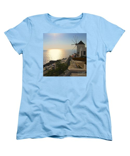 Midday On Santorini Women's T-Shirt (Standard Cut) by Suzanne Oesterling