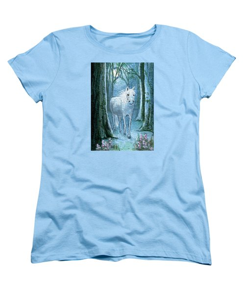 Women's T-Shirt (Standard Cut) featuring the painting Midsummer Dream by Terry Webb Harshman