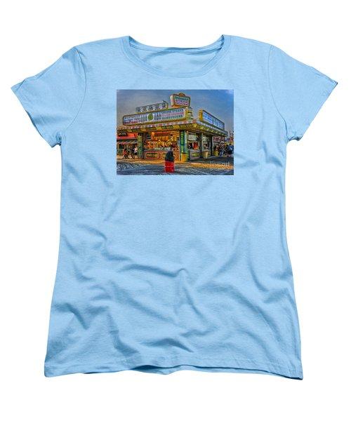 Women's T-Shirt (Standard Cut) featuring the photograph Midway Steak House by Debra Fedchin