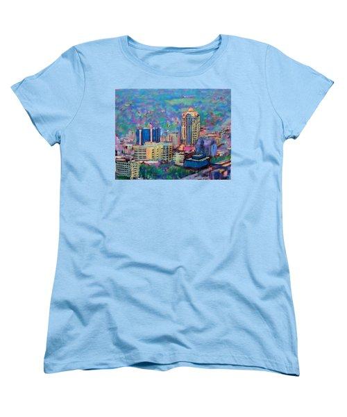 Mill Mountain View Women's T-Shirt (Standard Cut) by Bonnie Mason