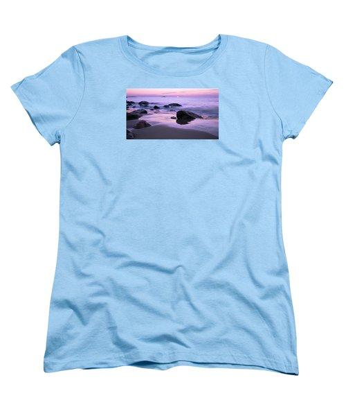 Millennium Sunrise Singing Beach Women's T-Shirt (Standard Cut) by Michael Hubley