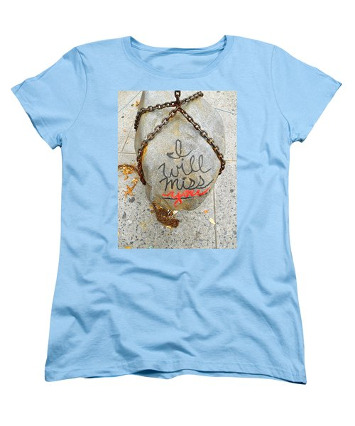 Women's T-Shirt (Standard Cut) featuring the photograph Missing You by Joan Reese
