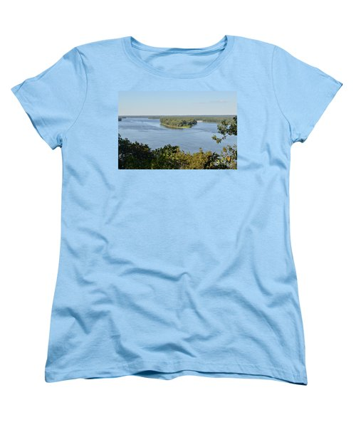 Mississippi River Overlook Women's T-Shirt (Standard Cut) by Luther Fine Art