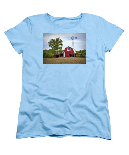 Missouri Star Quilt Barn Women's T-Shirt (Standard Cut) by Cricket Hackmann
