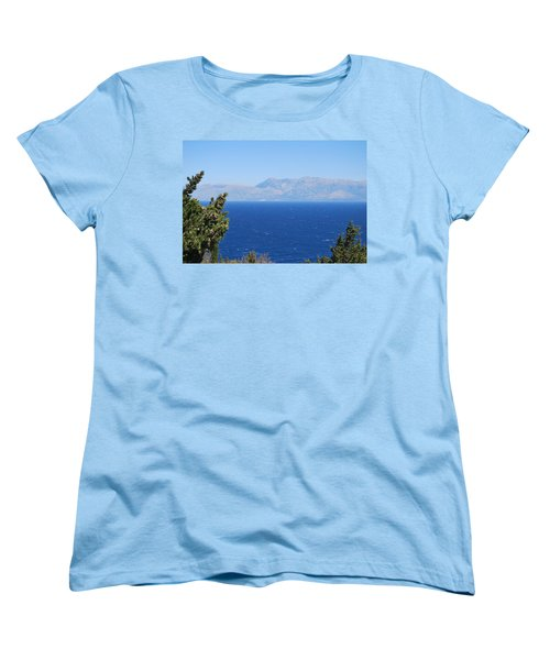 Women's T-Shirt (Standard Cut) featuring the photograph Mistral Wind by George Katechis