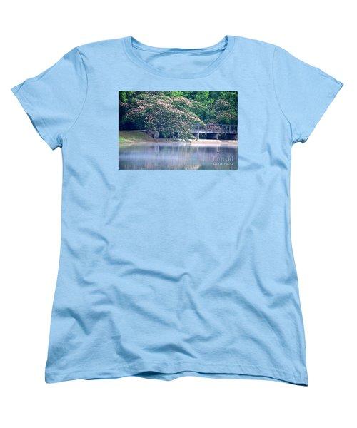 Misty Mimosa Reflections Women's T-Shirt (Standard Cut) by Maria Urso