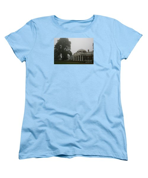 Misty Morning At Monticello Women's T-Shirt (Standard Cut) by Christiane Schulze Art And Photography