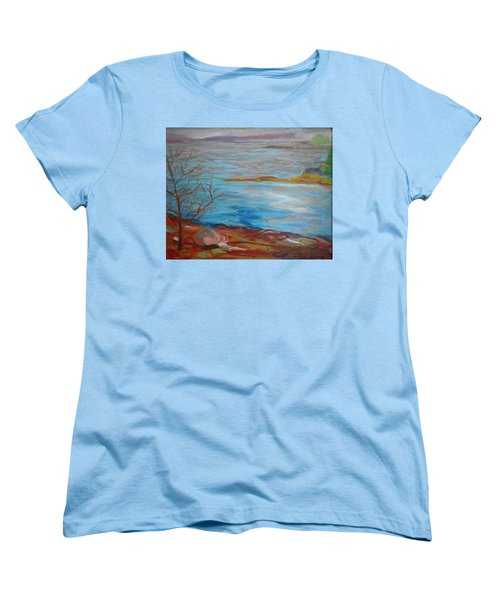 Women's T-Shirt (Standard Cut) featuring the painting Misty Surry by Francine Frank