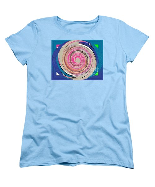Women's T-Shirt (Standard Cut) featuring the painting Mixed by Catherine Lott