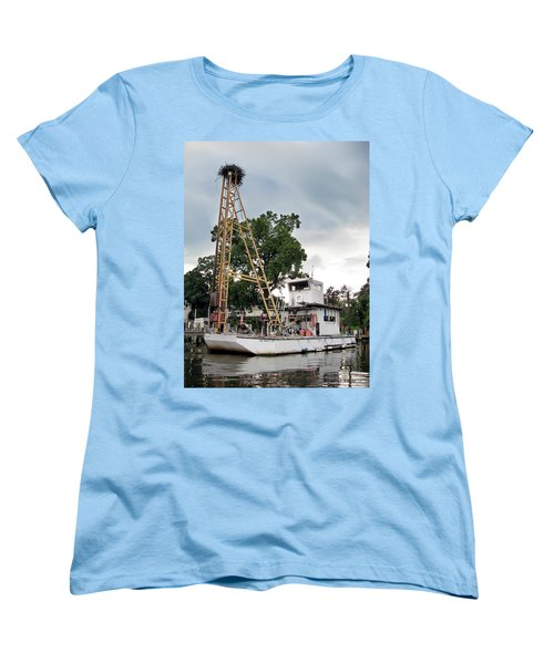 Women's T-Shirt (Standard Cut) featuring the photograph Mobile Osprey Nest by Brian Wallace
