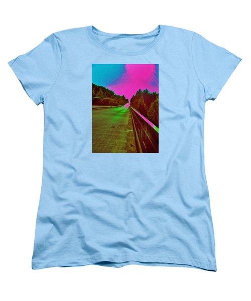 Moffit Bridge And Maple Ridge Rd. Women's T-Shirt (Standard Cut) by Daniel Thompson