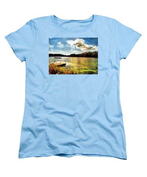 Mohegan Lake Gold Women's T-Shirt (Standard Cut) by Derek Gedney