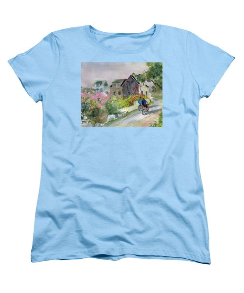 Monhegan In August Women's T-Shirt (Standard Cut) by Melly Terpening