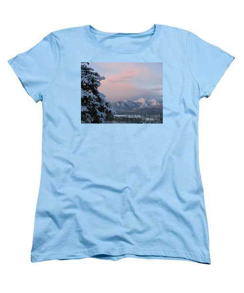 Montana Winter Women's T-Shirt (Standard Cut) by Joseph J Stevens