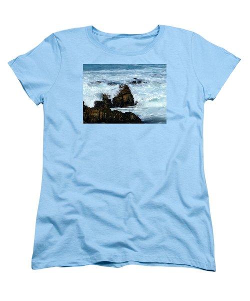 Women's T-Shirt (Standard Cut) featuring the photograph Monterey-2 by Dean Ferreira
