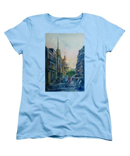 Montreal Skyline Women's T-Shirt (Standard Cut) by Debbie Lewis