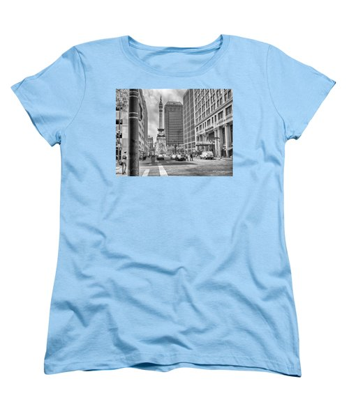 Women's T-Shirt (Standard Cut) featuring the photograph Monument Circle by Howard Salmon