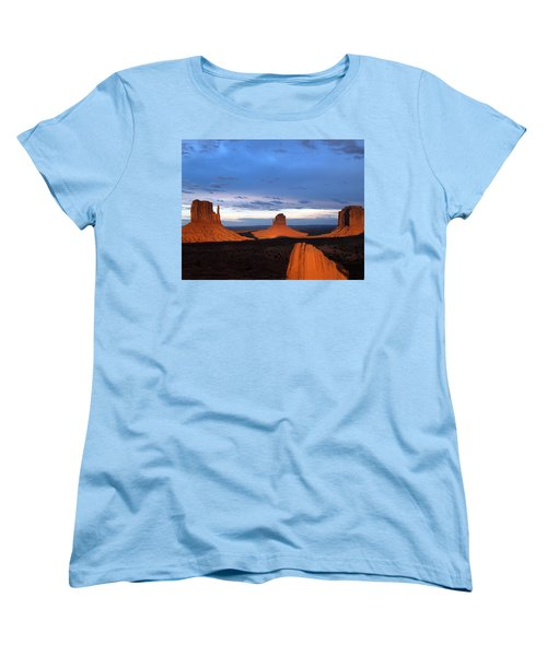 Monument Valley @ Sunset 2 Women's T-Shirt (Standard Cut) by Jeff Brunton