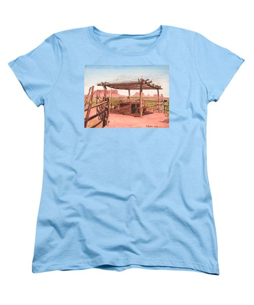 Monument Valley Overlook Women's T-Shirt (Standard Cut) by Mike Robles