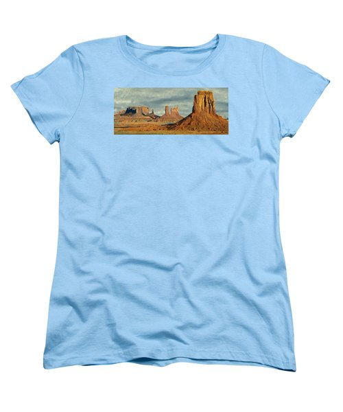 Women's T-Shirt (Standard Cut) featuring the painting Monumental by Jeff Kolker