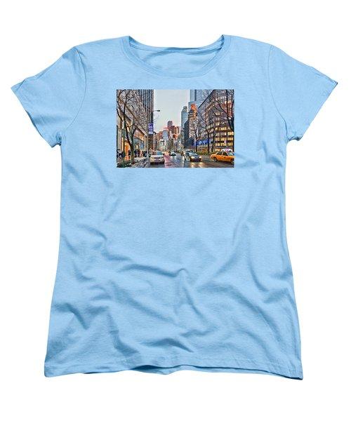Moody Afternoon In New York City Women's T-Shirt (Standard Cut) by Jeffrey Friedkin