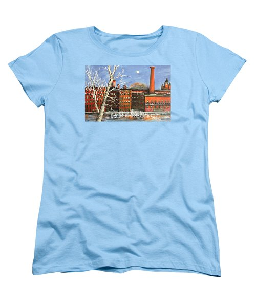 Moon Over Waltham Watch Women's T-Shirt (Standard Cut) by Rita Brown