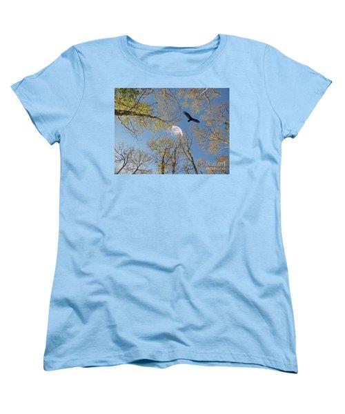 Women's T-Shirt (Standard Cut) featuring the photograph Moon Trees by Savannah Gibbs
