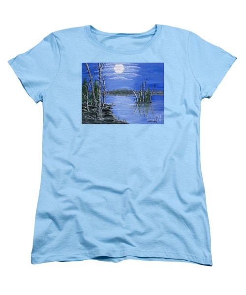 Moonlight Mist Women's T-Shirt (Standard Cut) by Brenda Brown