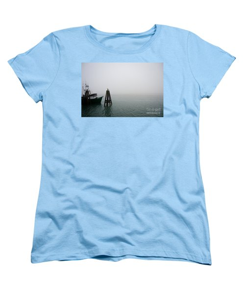 Women's T-Shirt (Standard Cut) featuring the photograph Moored by CML Brown