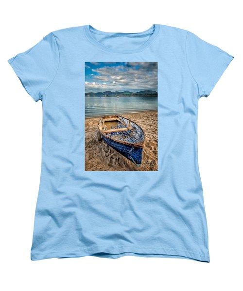 Morfa Nefyn Boat Women's T-Shirt (Standard Cut) by Adrian Evans