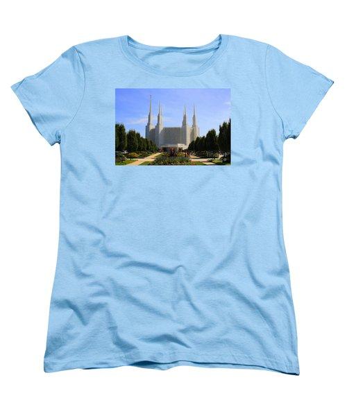 Mormon Temple Dc Women's T-Shirt (Standard Cut) by Patti Whitten