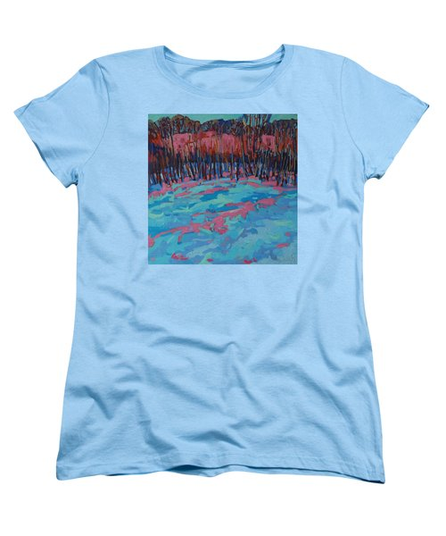 Morning Forest Women's T-Shirt (Standard Cut) by Phil Chadwick